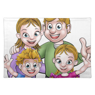 Family Cartoon Characters Placemat