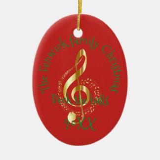 Family Christmas Ceramic Ornament