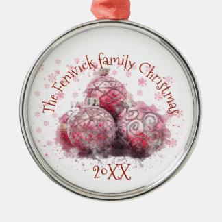 Family Christmas Metal Ornament