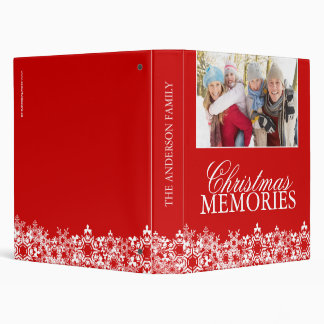 Family Christmas Photo Album 3 Ring Binders