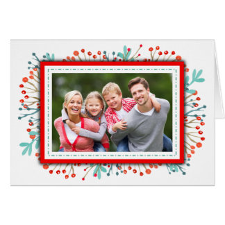 Family Christmas Photo Elegant Script Card