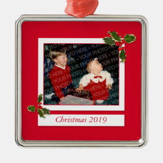 Family Christmas Picture Custom Photo Ornament