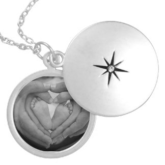 Family circle silver plated necklace