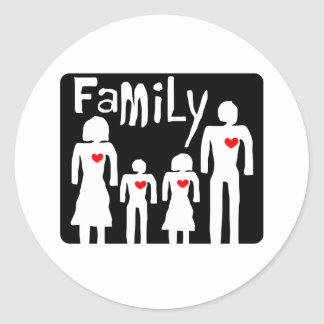 family  concept classic round sticker