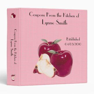 "Family Coupon Binder-- Apple design 1.5 "" Vinyl Binders"