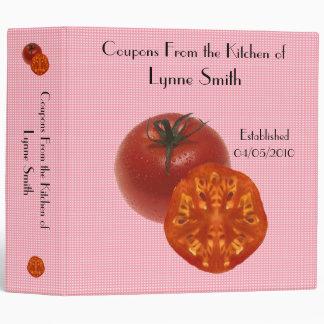 "Family Coupon Binder-- Tomato design 2.8 "" Vinyl Binders"