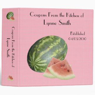 "Family Coupon Binder-- Watermelon design 2.8 """
