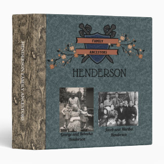 Family Crest Ancestor Photo Binder