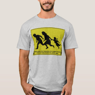 Family Crossing Road Sign T-Shirt