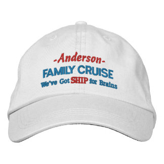 Family Cruise Trip Funny Ship Joke | Custom Name Embroidered Hat