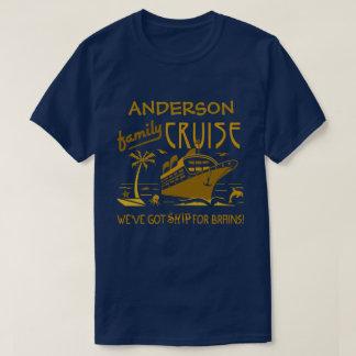 Family Cruise Vacation Funny Ship | Custom Name V2 T-Shirt