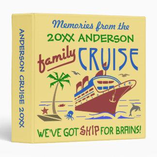 Family Cruise Vacation Funny Ship | Custom Name Vinyl Binders
