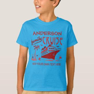 Family Cruise Vacation Ship Custom Name + Text V5 T-Shirt