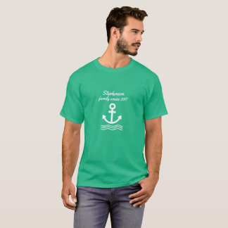 Family Cruise with anchor and waves T-Shirt