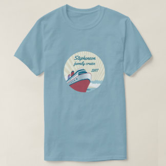 Family Cruise with retro cruise ship T-Shirt