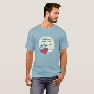 Family Cruise with retro cruise ship T-Shirt