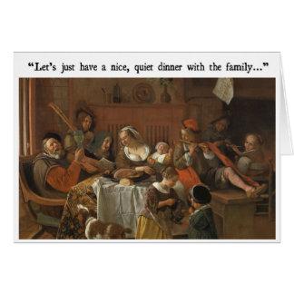 Family Dinner Funny Card