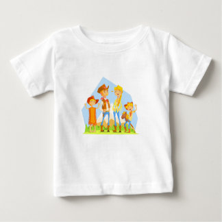 Family Dressed As Cowboys With Mountain Landscape Baby T-Shirt