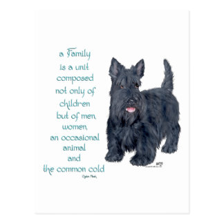Family Dynamics - Scottish Terrier Wit & Wisdom Post Card
