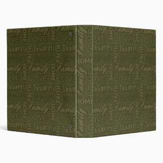 Family, Faith, Home, Love, Thankful Notebook Album 3 Ring Binder