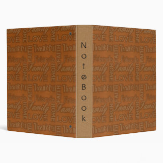 Family, Faith, Home, Love, Thankful Notebook Album Binder