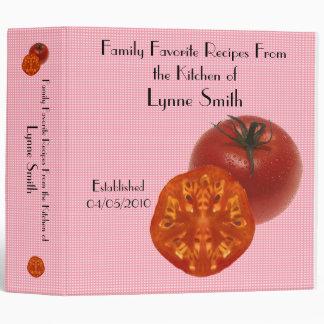 Family Favorite Recipes -- Tomato design 3 Ring Binder