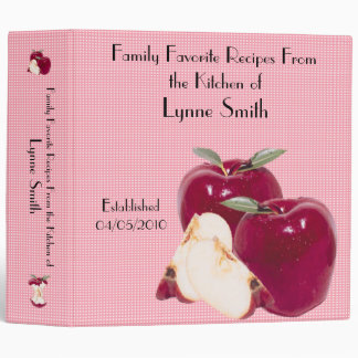 Family Favourite Recipes -- Apple design Binder