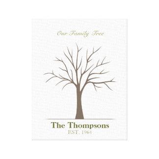 Family Fingerprint Tree Canvas Print