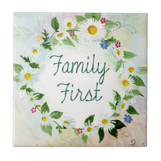 Family First Inspirational Quote Tile