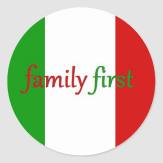 FAMILY FIRST - Italy / Mexico / Family Classic Round Sticker