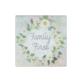 Family First Stone Magnets