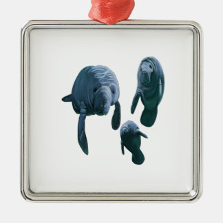 FAMILY FOR THREE METAL ORNAMENT