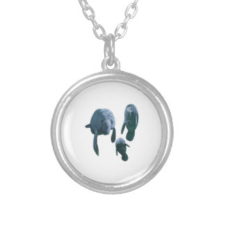 FAMILY FOR THREE SILVER PLATED NECKLACE
