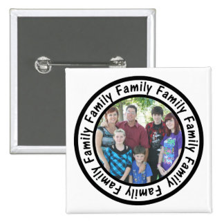Family Frame Circle Add Your Photo 2 Inch Square Button