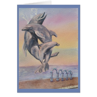 FAMILY FRIENDLY DOLPHIN STATUE CARD