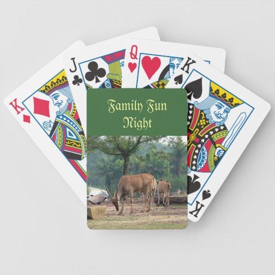 Family fun night playing cards, gazelle poker deck