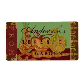 Family garden shipping label