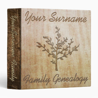 Family Genealogy Vinyl Binders
