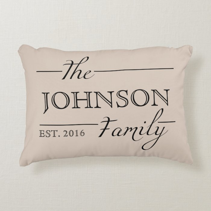 Family gift personalized custom pillow home decor accent for Personalized home decor