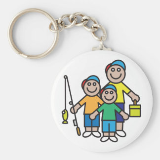 Family Going Fishing Keychain