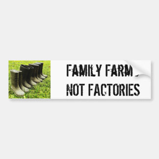 Family Gumboots for the Farm Bumper Sticker