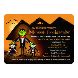 Family Halloween Costume Party Invitation