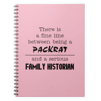 Family Historian Notebook (Customize Your Color)