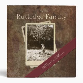 Family History Custom Photograph Memory Binder
