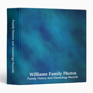 Family History/Genealogy Blue Velvet Binders
