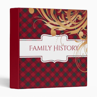 Family History Genealogy   Buffalo Plaid Vinyl Binder