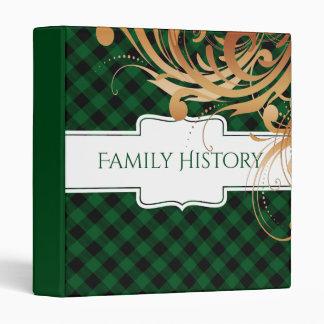 Family History Genealogy Family Tree | Green Plaid Binders