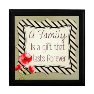 Family Inspirational Quote Jewelry Boxes