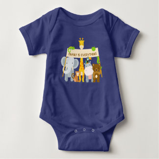 Family is everything Baby Jersey Bodysuit