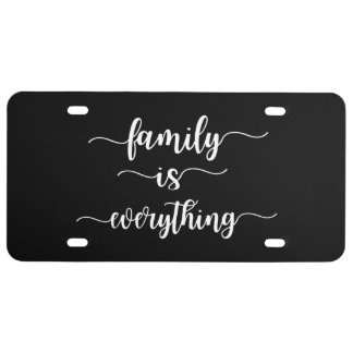 Family Is Everything Car Tag License Plate